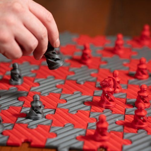 Playing 3D Printed Chess Set