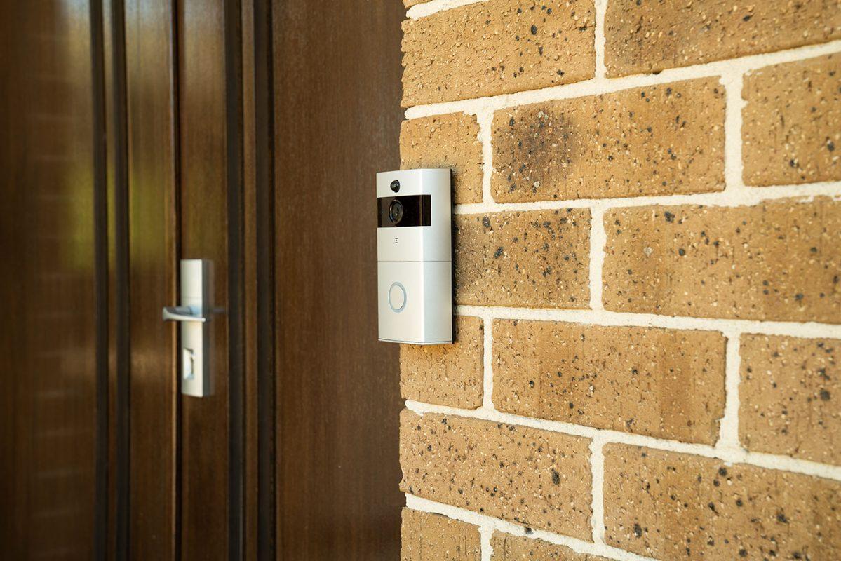 Smart WiFi Doorbell on House